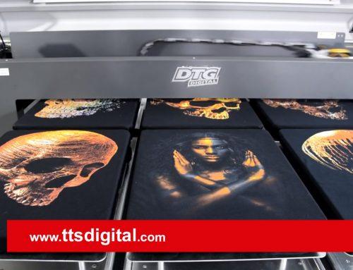 Dtg Digital M Serisi M6 XL Baskı Makinesi ile Altın ve Yaldız Desen Baskısı